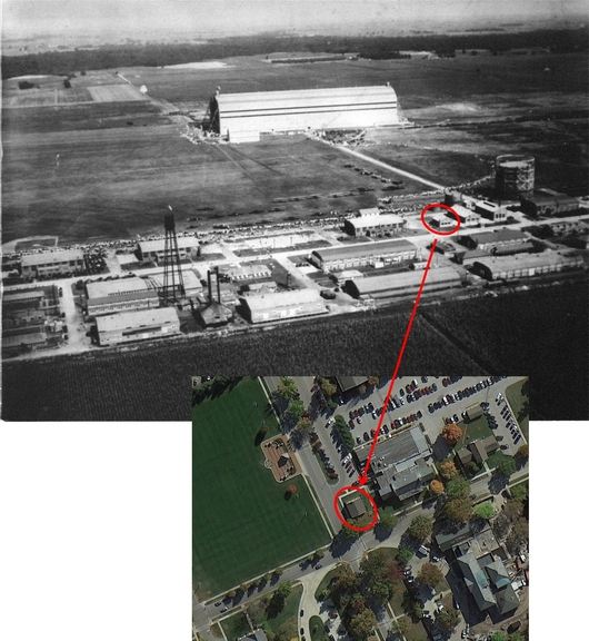 Location of original building, Scott Field